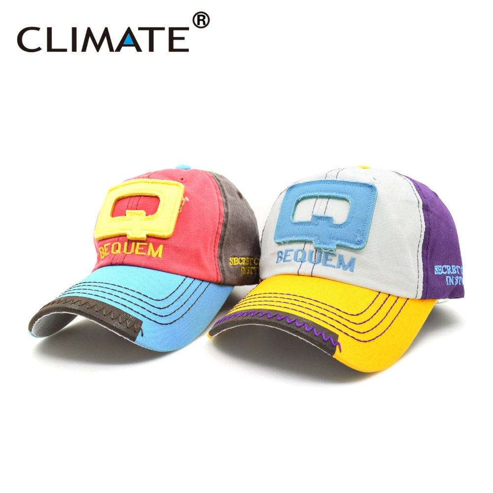 Color q online - Climate 2017 New Spring Contrast Color Q Letter Retro Sport Baseball Caps Youth Man Women Adjustable
