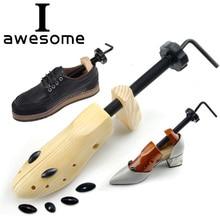 Высокое качество 1 предмет древесины 2-полосная деревянные обувные колодки Регулируемый Форма для женщин и мужчин обувь дерево Профессиональный растяжки для обуви