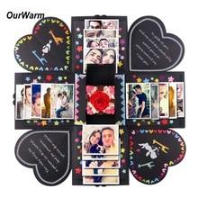 OurWarm DIY Love Explosion Box идеи Suprise ПОДАРОК Свадебная коробка День рождения взрыв коробка фотоальбом для юбилея День святого Валентина