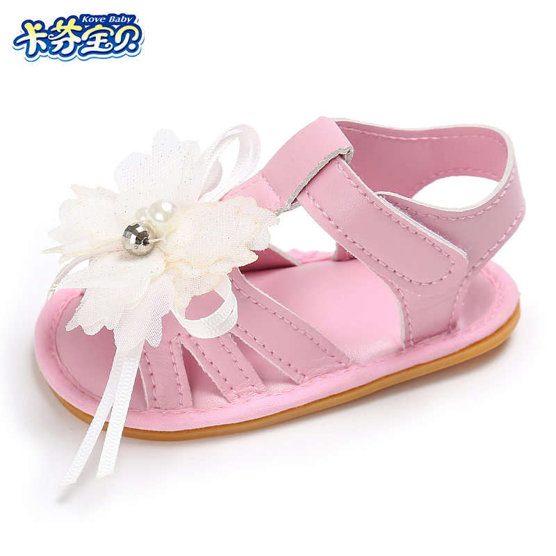 Baby Girls sandals Summer Newborn Kids Non slip Toddler Shoe outdoor shoes hard rubber bottom 0