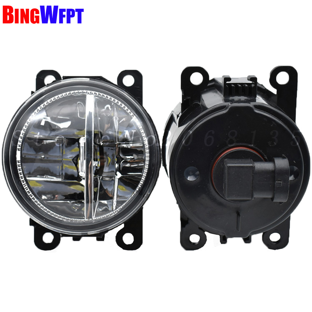 Super Bright LED Refit Fog Lights For <font><b>Peugeot</b></font> <font><b>407</b></font> <font><b>Coupe</b></font> 6C_ 2005-2011 Fog Lamp Assembly LED Fog Lamp Light image