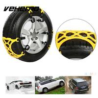 Car Vehicle Truck SUV Safe Snow Tire Wheel Chain Anti Skid Belt Yellow