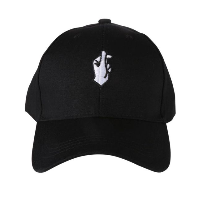 2e895747ba1ec 2017 New Men Women Snapback Hats Flipper Little Heart Golf Cap Love  Gestures Finger Embroider Caps Outdoor Sports Caps