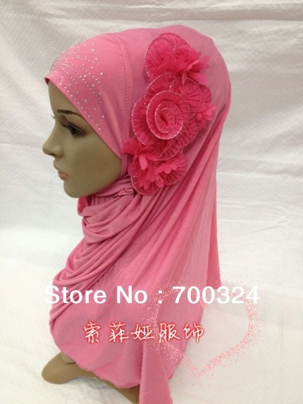 H573 latest fashion muslim flower hijab,islamic scarf,fast delivery,assorted colors