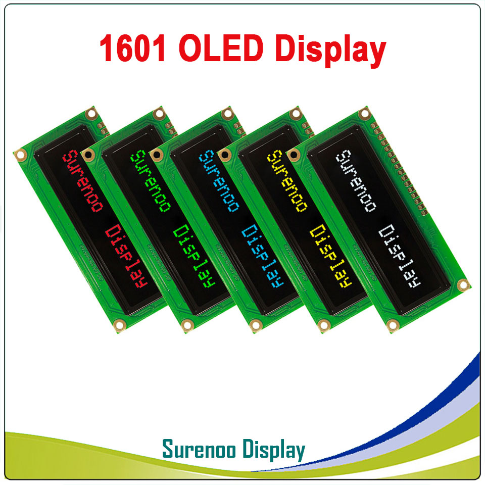 Real OLED Display, 1601 161 Character Parallel LCD Module Display LCM Screen, Build-in WS0010, Support Serial SPI