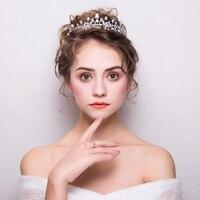 Fashion Clear Zircon Wedding Crowns Tiaras Cubic Zirconia Princess Plant Design Bridal Wedding Headdress Hair Jewelry