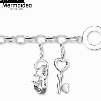 Love Key Charm Bracelets (clip-on charms)