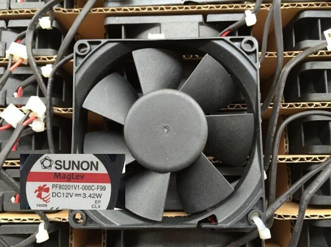 Wholesale: SUNON 80 12V 3.42W PF801V1-000C-F99 8cm 3 line with speed fan