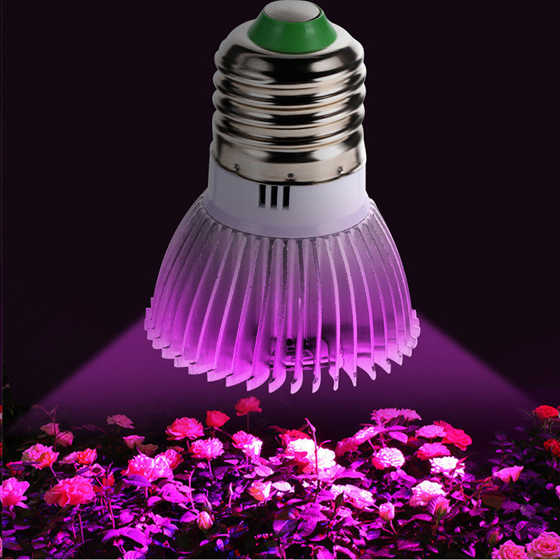 LAIDEYI Full Spectrum 28W E27 28 Led Grow Light Red Blue UV IR Led Growing Lamp For Hydroponics Flowers Plants Vegetables
