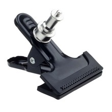 "Light Stand Clip Big Clamp Grip For Flash Trigger Mono light Mount Bracket with 1/4"" Screw"