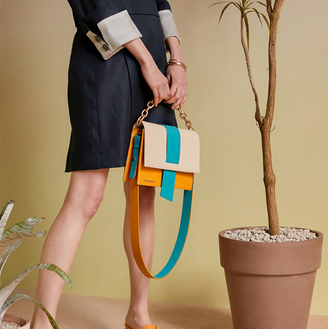 Bags for Women 2019 Personality Stitching Shoulder bag Hit color Portable Messenger Bags Travel Tote Crossbody bag Chain Handbag