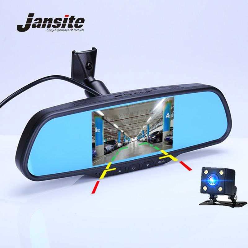 Jansite Автомобильный видеорегистратор 4,5 дюймов регистраторы Зеркало заднего вида автомобиля Камера Двойной объектив камера с детектором дв...