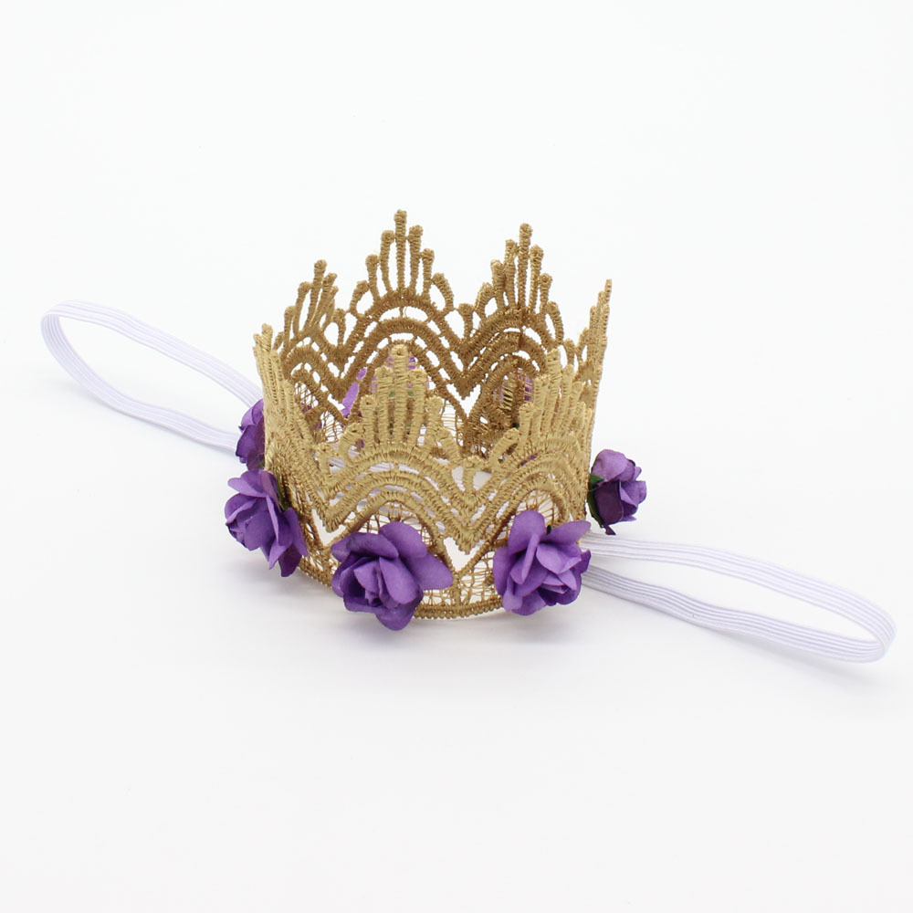 Wholesale vintage lace crown headband gold flower headband smash wholesale vintage lace crown headband gold flower headband smash cake outfit hair accessories 200pcs in hair accessories from mother kids on izmirmasajfo Gallery