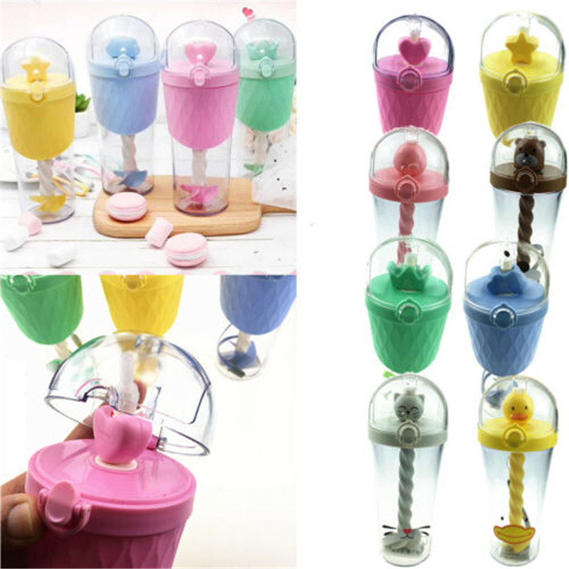 500ML Leak Proof Baby Kids Drinking Water Straw Bottle Sippy Suction Stirring Cup(China)