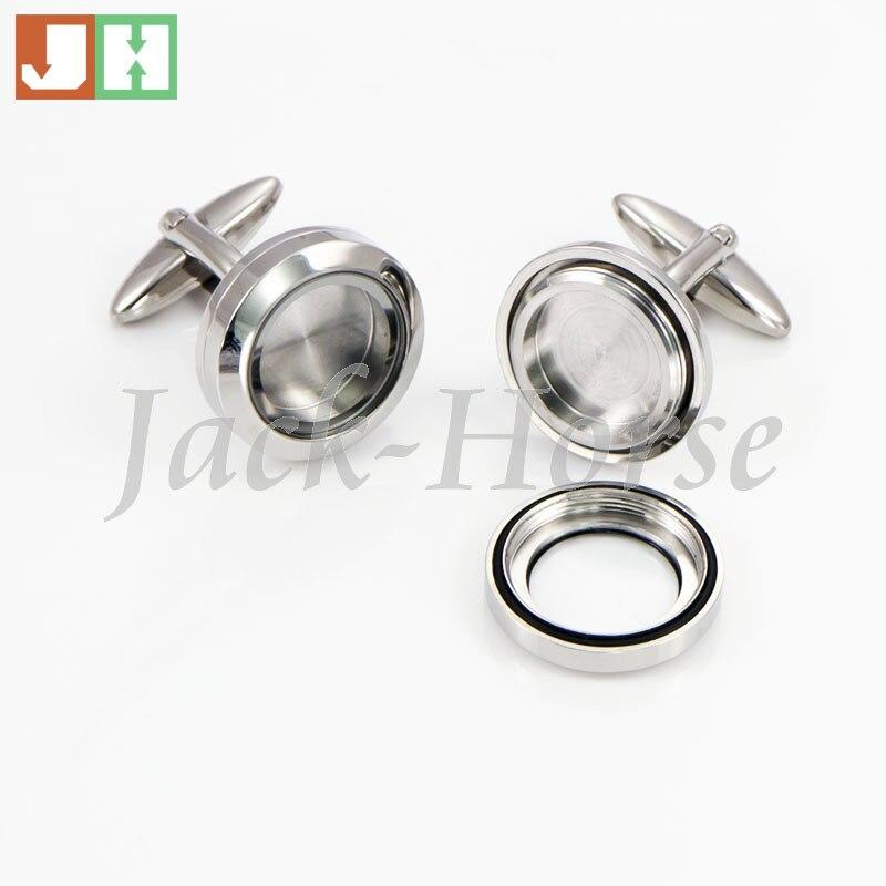 Takı ve Aksesuarları'ten Kravat İğneleri ve Kol Düğmeleri'de En popüler Su Geçirmez kol düğmeleri 316l paslanmaz çelik yüzen madalyon kol düğmesi'da  Grup 1