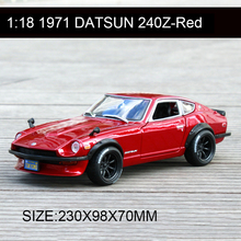 Maisto 1:18 1971 Datsun 240Z Red Classic Cars Alloy Car Metal Vehicle Collectible Models toys For Gift Collection