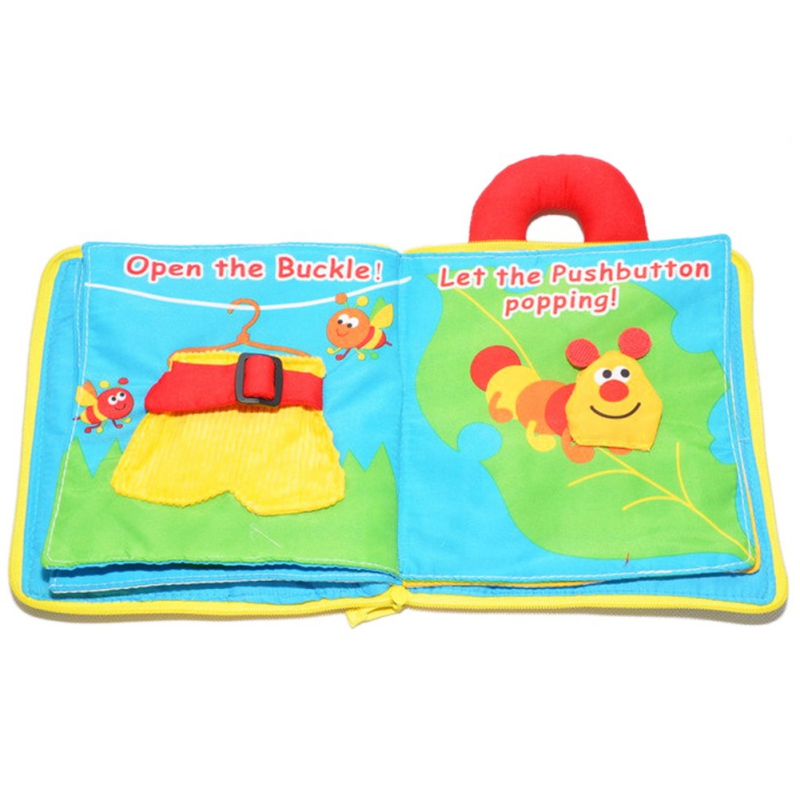 Soft Cloth Books Baby Boys Girls Books Rustle Sound Infant Educational Stroller Rattle Toys For Newborn Baby