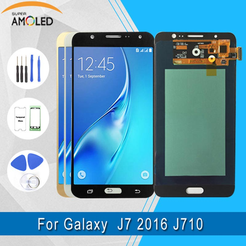Per Samsung Galaxy J7 2016 LCD J710 SM-J710F J710M J710H J710FN Display LCD Con Touch Screen Digitizer Assembly + StrumentiPer Samsung Galaxy J7 2016 LCD J710 SM-J710F J710M J710H J710FN Display LCD Con Touch Screen Digitizer Assembly + Strumenti