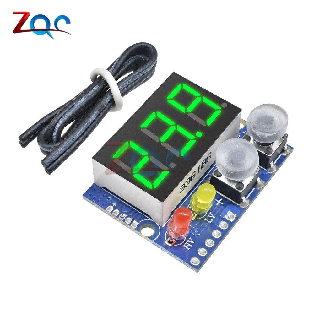 LED Panel Digital Voltmeter Voltage Meter Tester Detector Overvoltage Undervoltage Protection 0-99.9V DC 5V 12V 24V