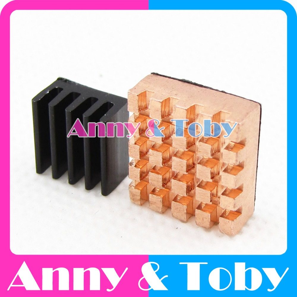 2pcs Aluminum Heat Sink Cooling Sink Radiator Blind Radiating fin Heat Sink for Raspberry PI 3 Model B and Ras PI 2