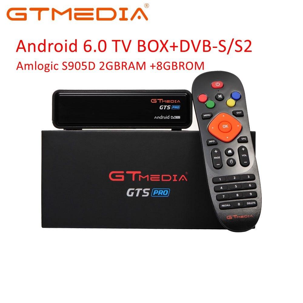 IPTV CCCAM GTmedia GTS PRO Android 6.0 tv, pudełko inteligentny zestaw top procesor Amlogic S905D 2GBRAM + 8GBROM H.265 4K Sat receptora PK T9 HK1 X96 MAX