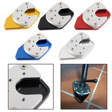 LJBKOALL CNC Aluminum Motorcycle Side Kickstand Stand Enlarger Foot Pad Extension Plate For 2017-2018 Honda XADV X-ADV 750