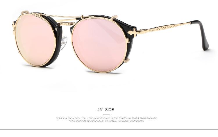 TYJYY Sunglasses Luxury Skull Round Sunglasses Women Vintage Shades Rhinestone Sun Glasses For Men