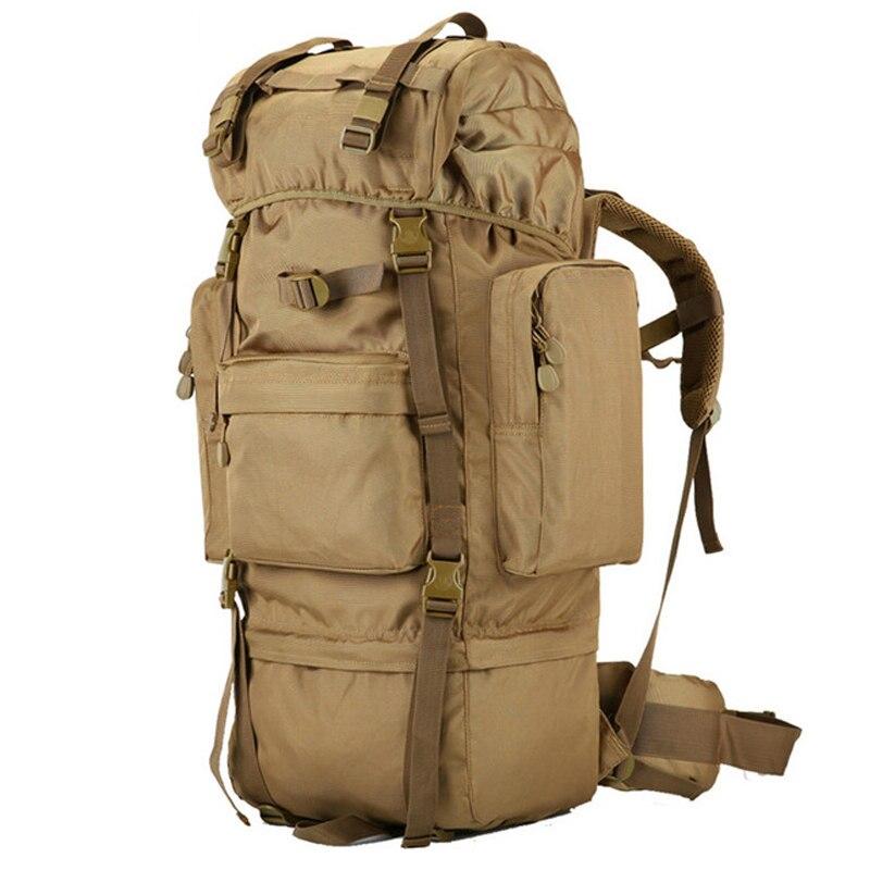 Caliente 70L gran capacidad al aire libre bolso militar mochila táctica Camping senderismo impermeable resistente al desgaste Nylon mochila - 4