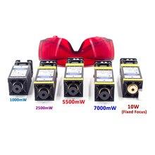 10000mw módulo do laser 405nm 450nm ttl pwm corte de madeira gravura marcação azul cabeça laser