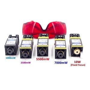 Image 1 - 10000mw módulo do laser 405nm 450nm ttl pwm corte de madeira gravura marcação azul cabeça laser