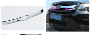 Chrome Front Centre Grill Grille Cover Trim 1pcs For Ford  Explorer 2011 2012 2013 2014 2015
