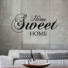 Home Sweet Home Wall Stickers Quote Removable Vinyl Wall Sticker Home Decor Living Room mural Bedroom Art Decals wallpaper LW121 цена и фото