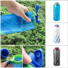 700ML High Quality Foldable Drinking Water Bottle Bag Pouch Outdoor Hiking Camping Seal Transparent Water Bottles 23x13cm mounchain camping drawstring water bottle pouch high capacity insulated cooler bag for traveling camping hiking
