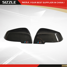 Reemplazo con la marca m de fibra de carbono cubierta del espejo lateral del coche para bmw 1 2 3 4 X Serie F20 F21 F23 F22 F30 F31 F32 F36 F33 X1 E84