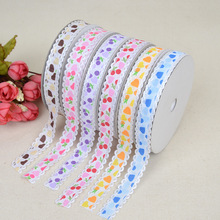 New Factory Direct Cherry Blossom Pattern Necklace Ribbon Headwear Accessories 1.5cm * 20 Yards Bow Cake Gift