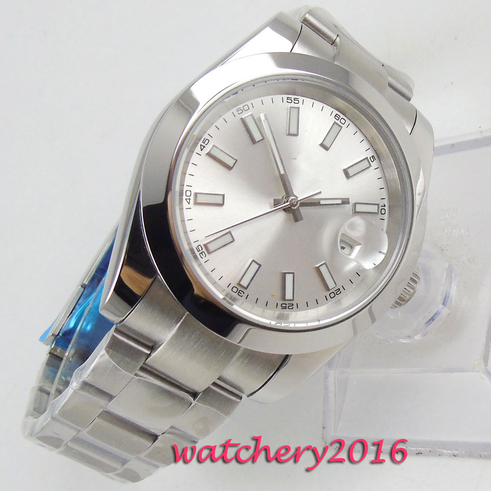 39mm Bliger Sterile Dial Sapphire Glass Date Top Brand Luxury Polished Bezel Automatic Movement men's Watch