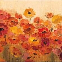 Лидер продаж абстрактная картина маслом цветок лето Маки Сильвия Васильева живопись искусство на холсте Высокое качество ручная роспись
