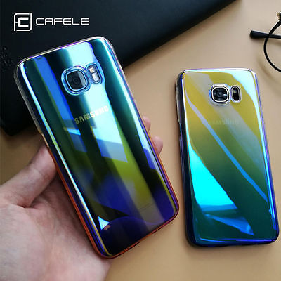 online store 84a55 ce86a US $5.39 |CAFELE Case For samsung Galaxy S7 Edge Cases luxury Aurora  Gradient Color Transparent light Hard PC Cover For Galaxy S7 Edge-in Fitted  Cases ...