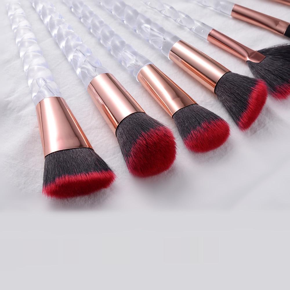 10pcs Unicorn Makeup Brushes Sets Maquiagem Foundation Powder Cosmetic Blush Eyeshadow Women Beauty Glitter Make Up Brush Tools 5