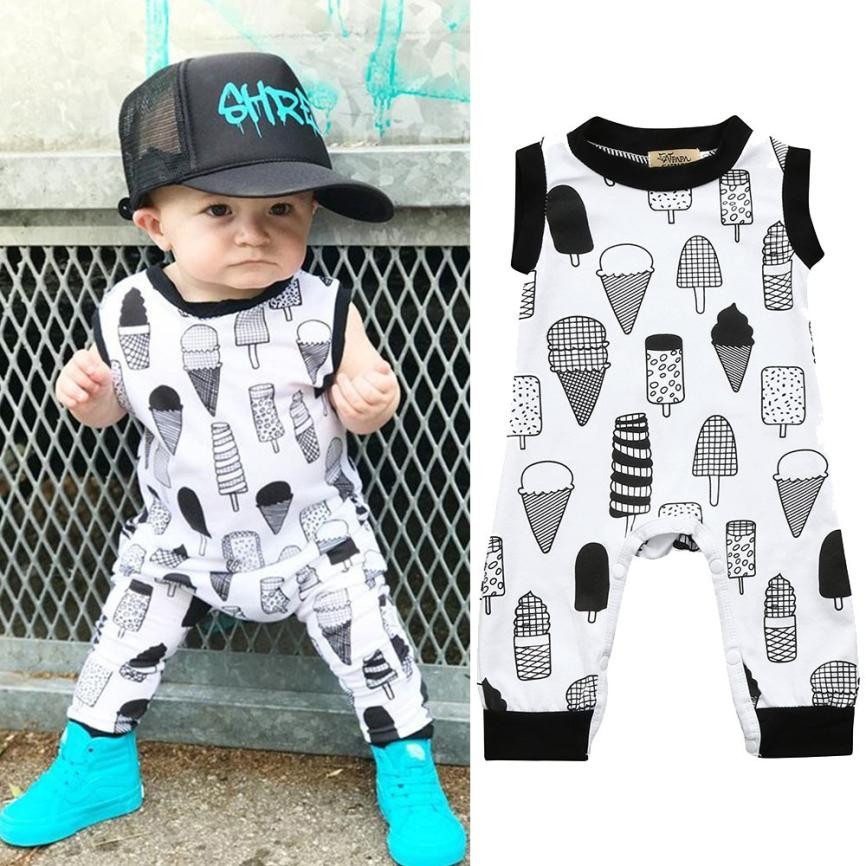 Mother & Kids Cute Baby Rompers Fashion Spring Summer Newborn Baby Clothes For Girls Sleeveless Kids Boys Jumpsuit Baby Girls Outfits Clothes