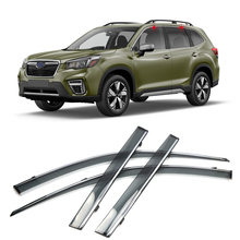 Car Styling 4PCS Window Visor Sun Rain Shield Guard Deflector Trim for Subaru Forester SK 2019 2020 2021 Accessories