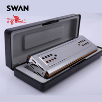 Swan SW24 12A Double Side Harmonica C G Keys 24 Holes Copper Board Stainless Steel Cover