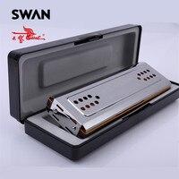 Swan SW24 12A Double Side Harmonica C G Keys 24 Holes Copper Board Stainless Steel Cover