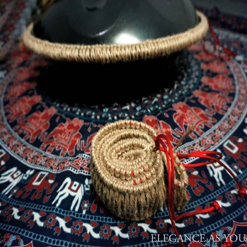 Handpan Drum Hand-woven Rope Cover Jute HandPan Universal Protection Braided Rope Thickened Rubber HandPan Drum Strip Non-slip