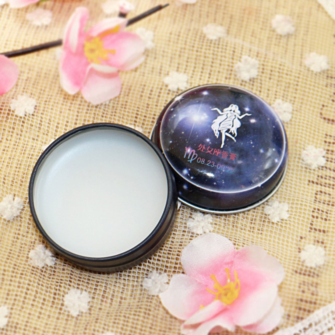 Mini 1 PC Unisex Magic Zodiac Fragrance 12 Signs Constellation Deodorant Perfumed Solid Portable Tin Box Balm