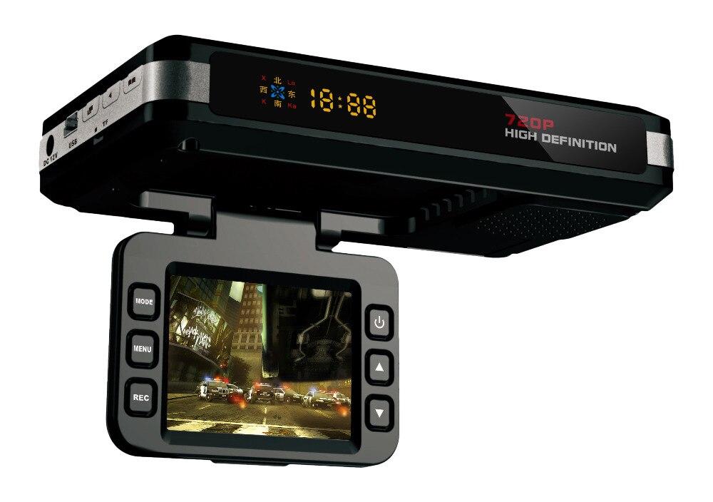 2 EN 1 universal Russe ou Anglais voiture dash caméra DVR voiture anti Détecteur de Radar G-capteur Replay d'enregistrement noir boîte