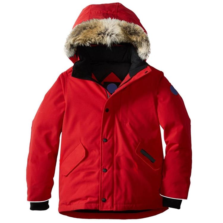 Winter Baby Down Jacket Turtleneck Snow Wear Children Down Coat Coyote Fur Hat Thick Warm Waterproof Windproof Winter Outerwear