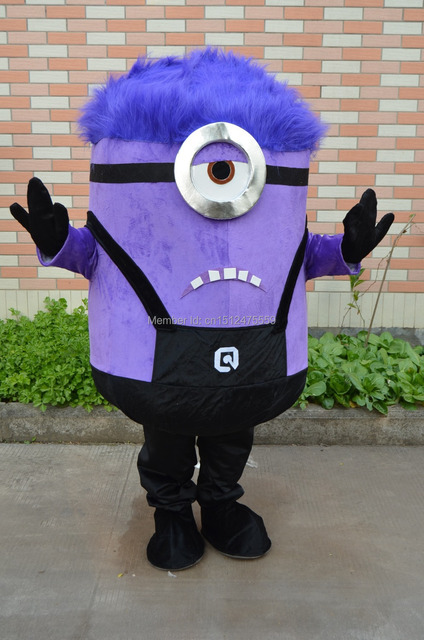 Despicable me Minion mascot costume Purple Minion mascot costume for Adult clothing & Despicable me Minion mascot costume Purple Minion mascot costume for ...