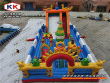 Children outdoor big inflatable fun city pvc material inflatable fun park for sale