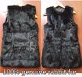 New arrival seller recommend real shoot 100% real fur rabbit fur vest long design fur vest outerwear waistcoat plus size
